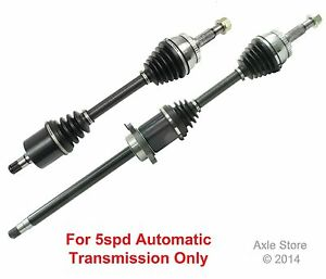 2 New Front CV Axles Fit Nissan Maxima SE With 5spd