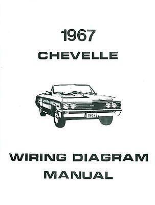 1967 67 chevelle/el camino wiring diagram manual  ebay