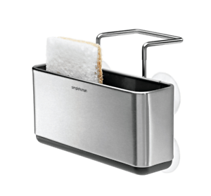 kitchen soap caddy faucet kohler slim sink home sponge storage holder brushed image is loading