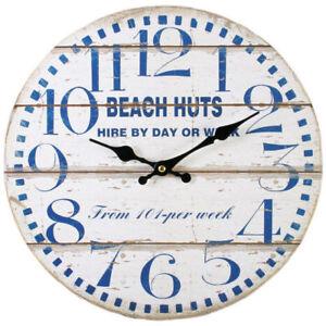 chargement de l image en cours neuf cabanes de plage horloge murale pendant 34cm