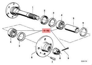 Genuine BMW 02 E21 Rear Wheel Bearing Repair Kit OEM