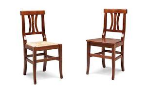 Dettagli Su Sedie Cucina Sala Da Pranzo Classiche Rustiche Arte Povera Sedile Paglia Legno
