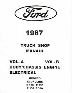 OEM Repair Maintenance Shop Manual Loose Leaf for Ford