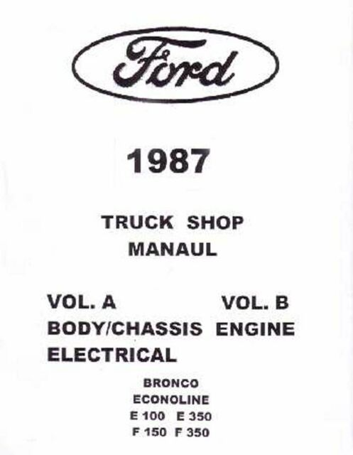 OEM Repair Maintenance Shop Manual Loose Leaf for Ford