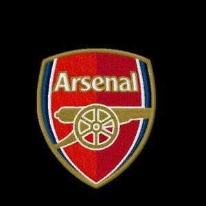 details zu maschinenstickereidesign arsenal logo football club stickerei applikation