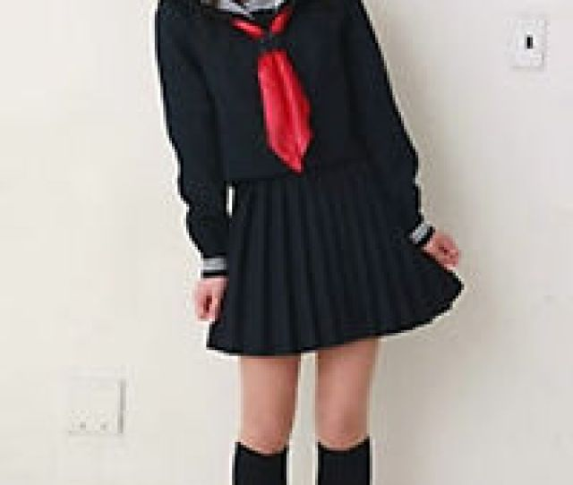 Image Is Loading Japanese Japan School Girl Long Sleeved Uniform Cosplay