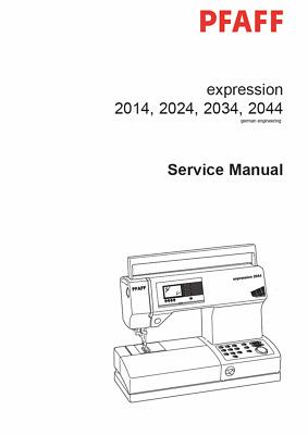 PFAFF Expression 2014 2024 2034 2044 Repair / Service