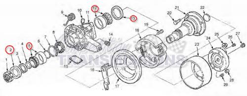 Ford ZF Parking Brake Bearing & Seal Kit Transmission