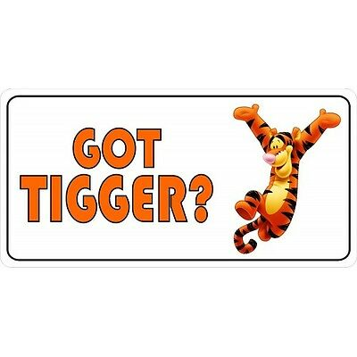 got tigger disney winnie the pooh chrome license plate made in usa | eBay