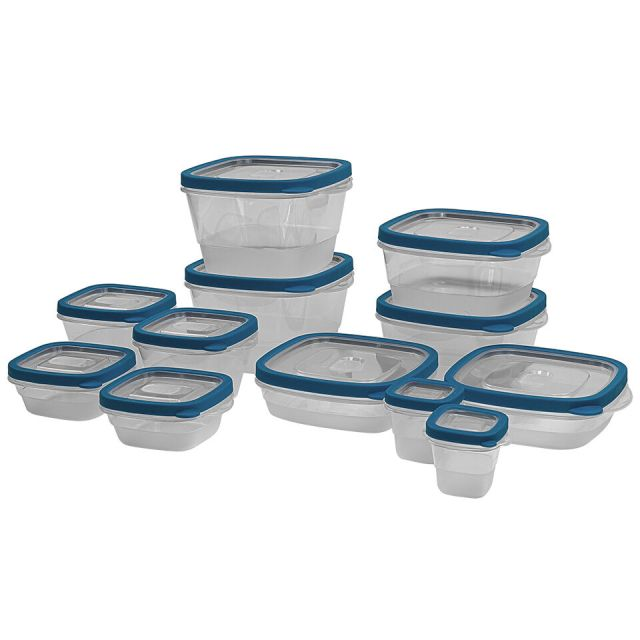24 Piece Plastic Food Storage Containers Set with Vents and Air Tight Locking Li 2
