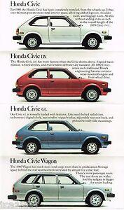 1980 Honda Civic For Sale : honda, civic, Honda, CIVIC, ACCORD, PRELUDE, Brochure, Catalog:, GL,Station, Wagon,DX,LX,
