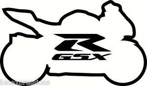 Suzuki GSXR Sportbike Vinyl Decal Your Color Choice