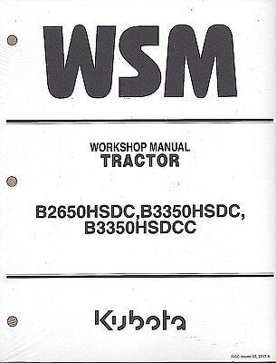 Kubota B2650HSDC, B3350HSDC, B3350SUHSDC CAB TRACT0R