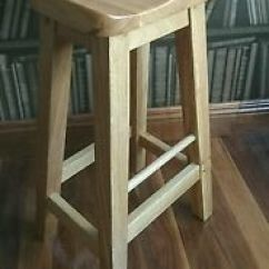 Wooden Kitchen Stools Unfinished Island Base Reguiny Oak Breakfast Bar Solid Wood Stool Image Is Loading