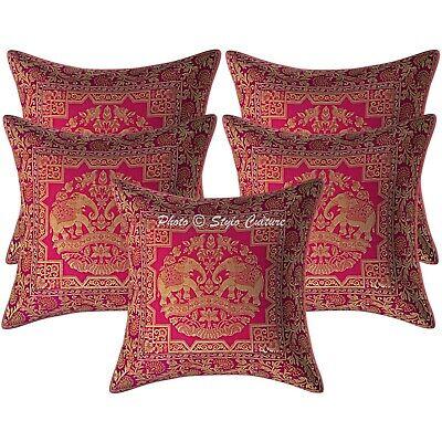 zari brocade beaded throw pillow 16