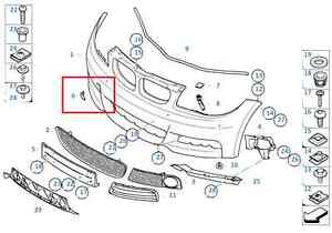 Painted or Primed BMW Front Tow Hook Cover 1 Series E82