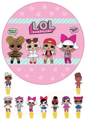 Lol Doll Puppe Ebar Tortenaufleger NEU Party Deko
