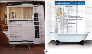 details about facebook youtube bathroom shower curtain bath polyester 180x180cm social media