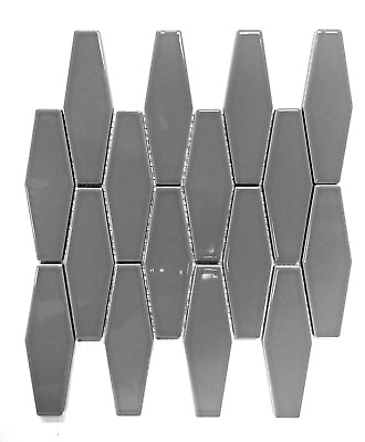 elongated gray hexagon porcelain mosaic wall tile kitchen backsplash bath ebay