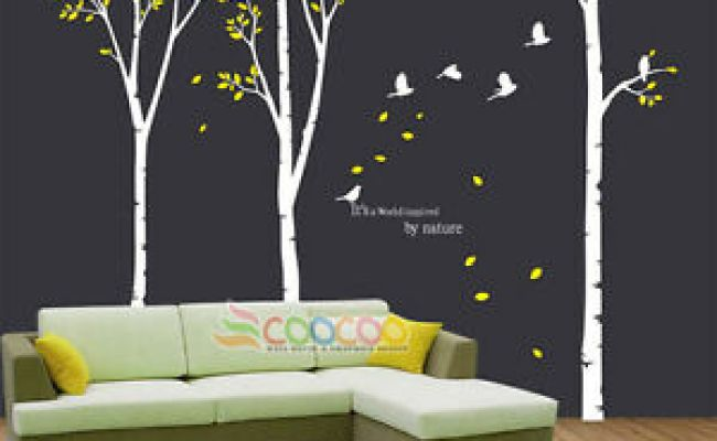 Wall Decor Decal Sticker Removable Large 117 High Birch