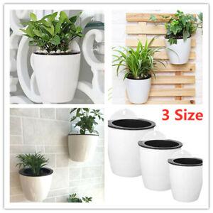 Indoor Outdoor Flowerpots Self Watering Hanging Flower Planter Pots Wall Plant Ebay