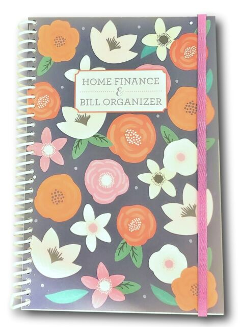 Home Finance Bill Organizer : finance, organizer, Organizer, Finance, Monthly, Pockets, Black, Checker, Online