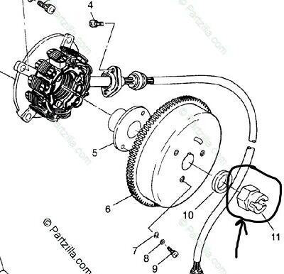 OEM Polaris Oil Pump Flywheel Metal Nut 1996-1999 SL SLTH