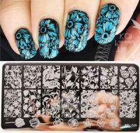 BORN PRETTY Nail Art Stamping Plate Rose Tulip Flower ...