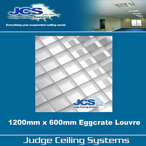 details about 1200mm x 600mm egg crate louvre light diffuser pack of 2 panels