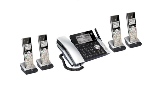 AT&T CL84215 DECT 6.0 Corded Cordless 5 Handset Phone