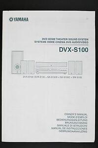 Yamaha DVX-S100 Original DVD Home Theatre Sound System