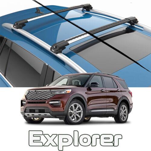 automotive racks ford explorer roof rack cross bars air 1 color silver 2020