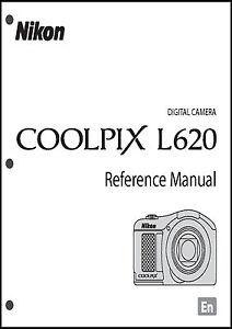 Nikon CoolPix L620 Digital Camera User Guide Instruction