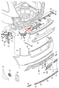 NEW AUDI A3 8P REAR BUMPER LEFT BRACKET 8P3807329A 2008OEM