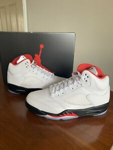 Are Jordan 5 True To Size : jordan, Jordan, Retro, Men's, Shoes, White/Fire, Red-Black, DA1911-102