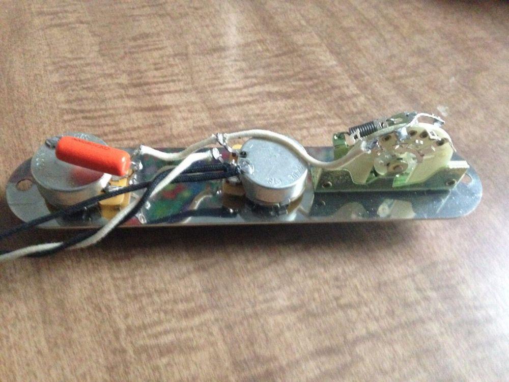 medium resolution of fender telecaster wiring harness 500k pots cap switch input jack knobs tele for sale online ebay