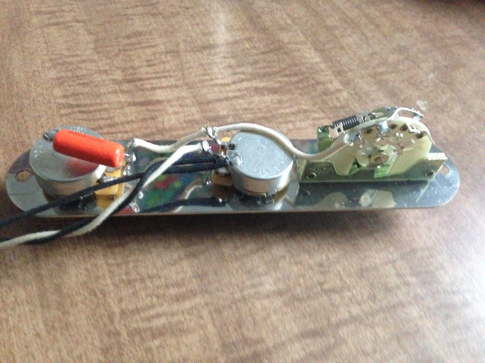 hight resolution of fender telecaster wiring harness 500k pots cap switch input jack knobs tele for sale online ebay