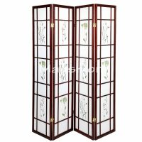 3 & 4 Panel Japanese Oriental Room Divider Hardwood Shoji ...