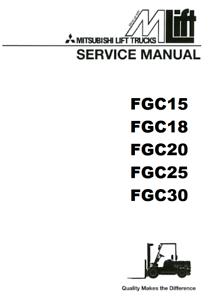 Mitsubishi Forklift FGC25 4G63 4G64 ENGINE AND SERVICE