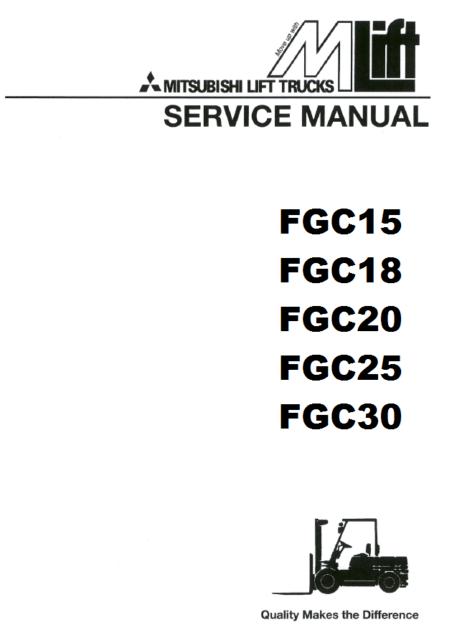 Mitsubishi Forklift FGC18 4G63 4G64 ENGINE AND SERVICE