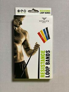 Vitality Force 4 Pack Looped Resistance Loop Bands Home Training Fitness 007 190518149985 Ebay
