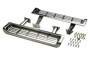 Kentrol Side Steps Pair Polished Stainless Jeep Wrangler