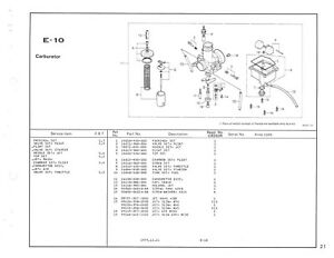 HONDA Parts Manual CR250R CR250 1978 Replacement Spares
