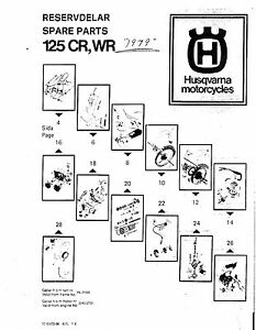 Husqvarna Parts Manual Book 1979 125 CR, 125 WR, 250 WR