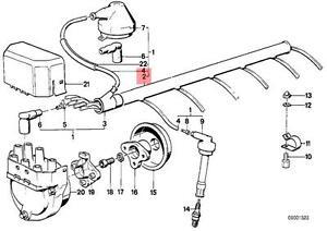 Genuine BMW E12 E23 E24 E28 E3 E9 Coupe Ignition Wiring