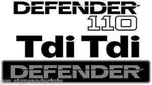 DEFENDER 110 TDI STICKER FULL KIT LAND ROVER FRONT & REAR