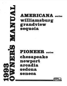 COLEMAN Trailer Owners Manual-1993 Pioneer Chesapeake