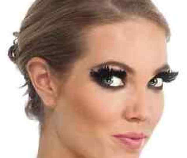 Image Is Loading Black Feather Eyelashes Fake Lashes Fancy Dress Halloween