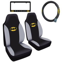 Batman Car Chair Ball Chairs Staples Truck Front Seat Covers Steering Wheel Cover License Plate Frame
