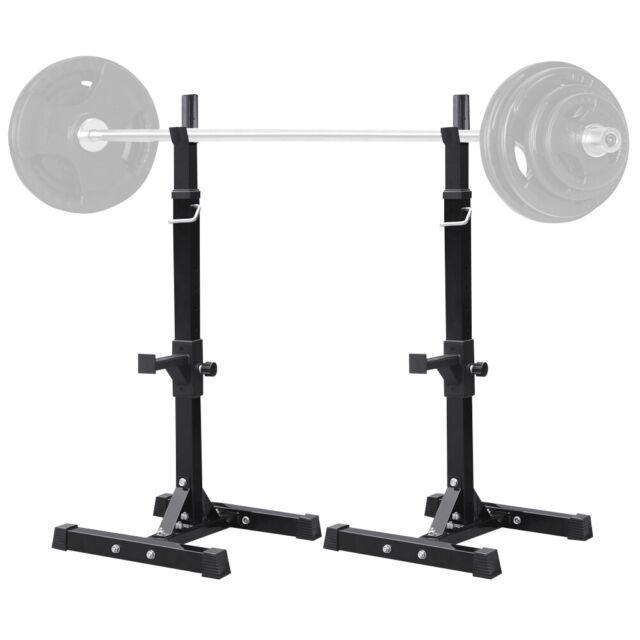 topeakmart 441lbs steel adjustable squat rack 45 70 5 inches black